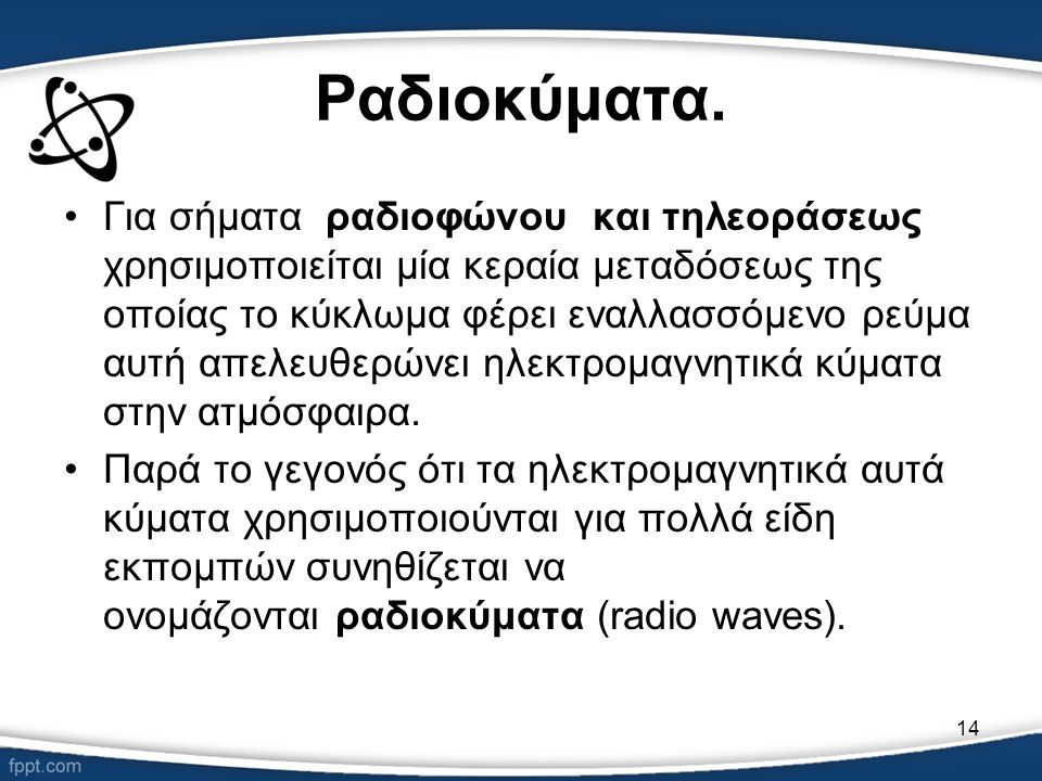 Ραδιοκύματα.
