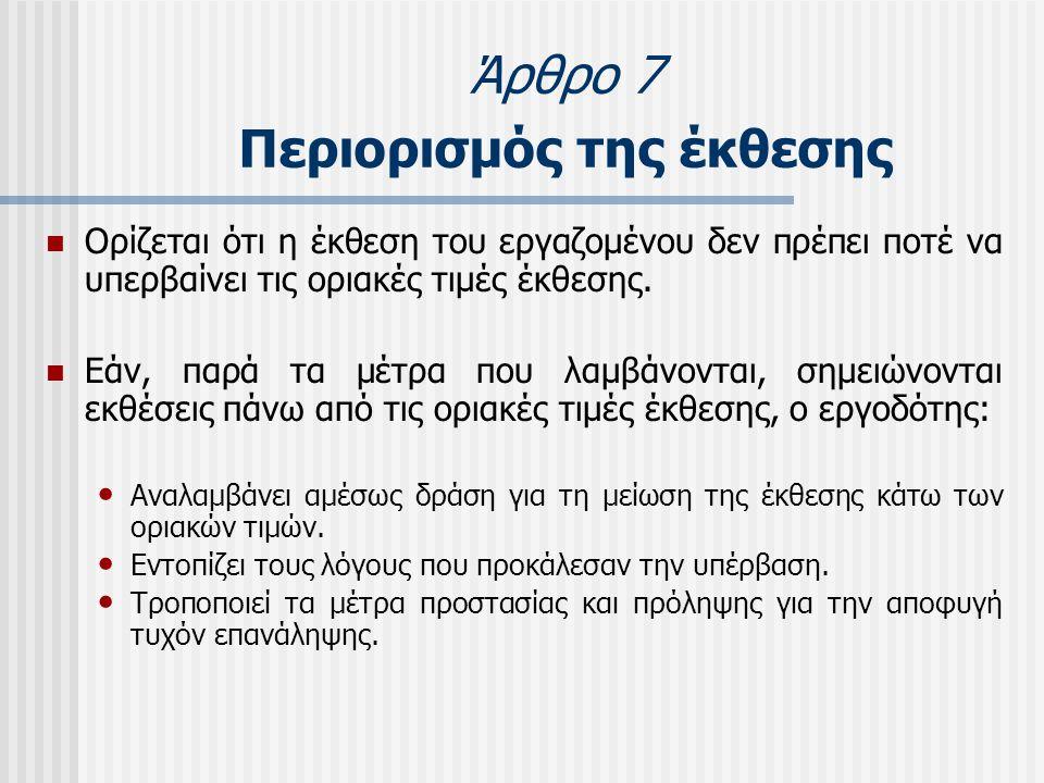 Άρθρο 7 Περιορισμός της έκθεσης