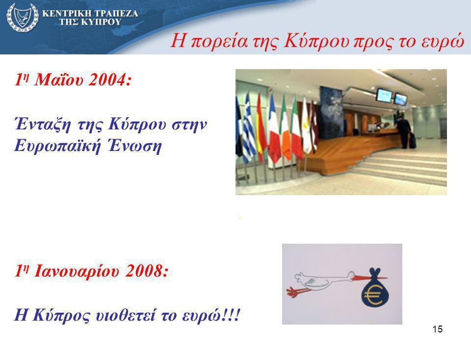 Η πορεία της Κύπρου προς το ευρώ