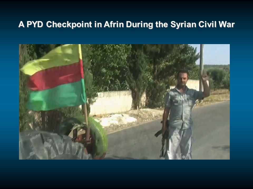 A PYD Checkpoint in Afrin During the Syrian Civil War