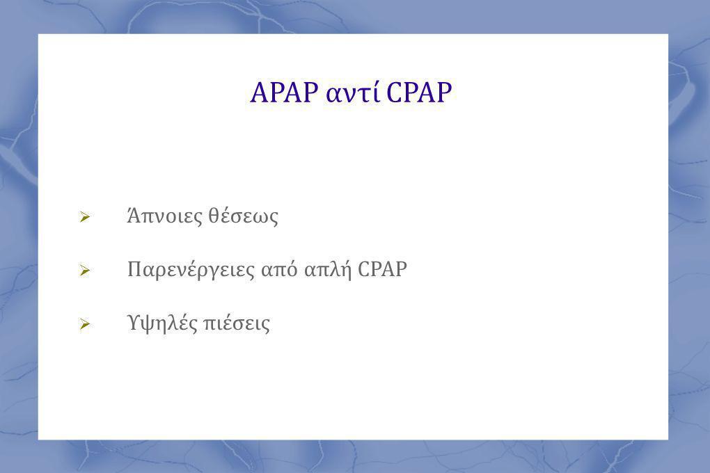 ΑΡΑΡ αντί CPAP Άπνοιες θέσεως Παρενέργειες από απλή CPAP