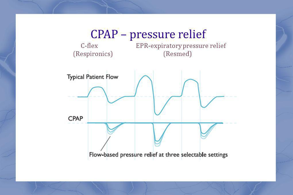 CPAP – pressure relief C-flex EPR-expiratory pressure relief