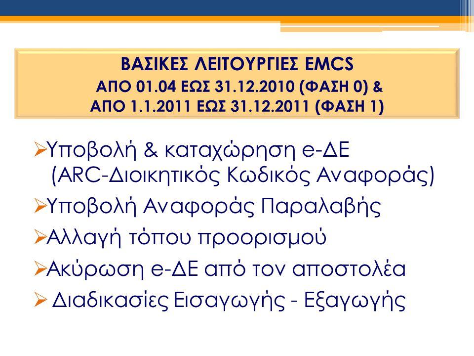 Υποβολή & καταχώρηση e-ΔΕ (ARC-Διοικητικός Κωδικός Αναφοράς)
