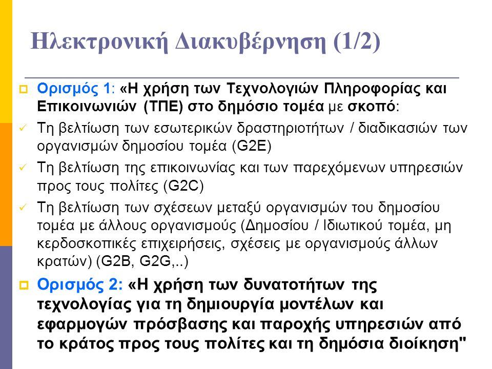 Ηλεκτρονική Διακυβέρνηση (1/2)