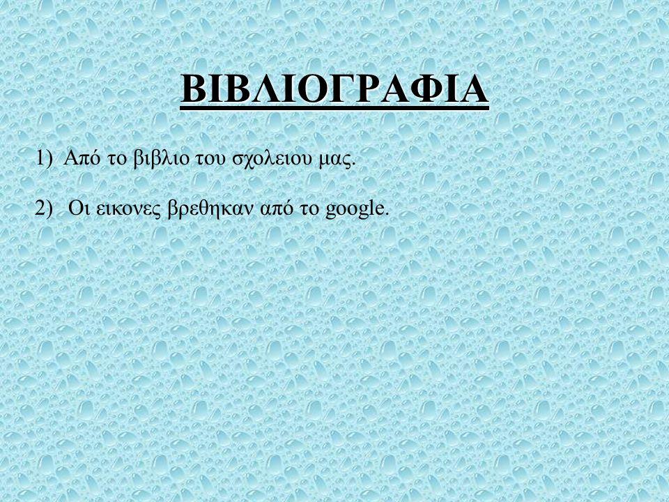 ΒΙΒΛΙΟΓΡΑΦΙΑ 1) Από το βιβλιο του σχολειου μας.