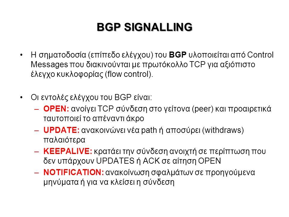 BGP SIGNALLING