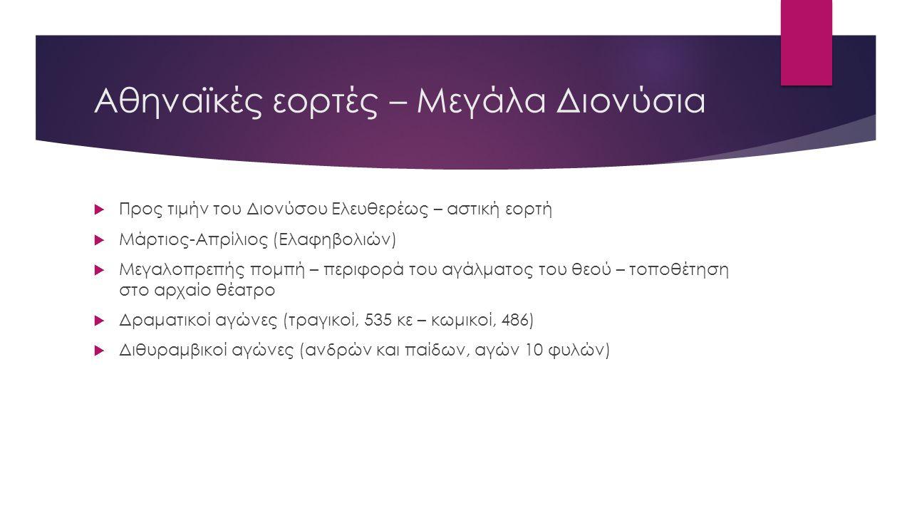 Αθηναϊκές εορτές – Μεγάλα Διονύσια