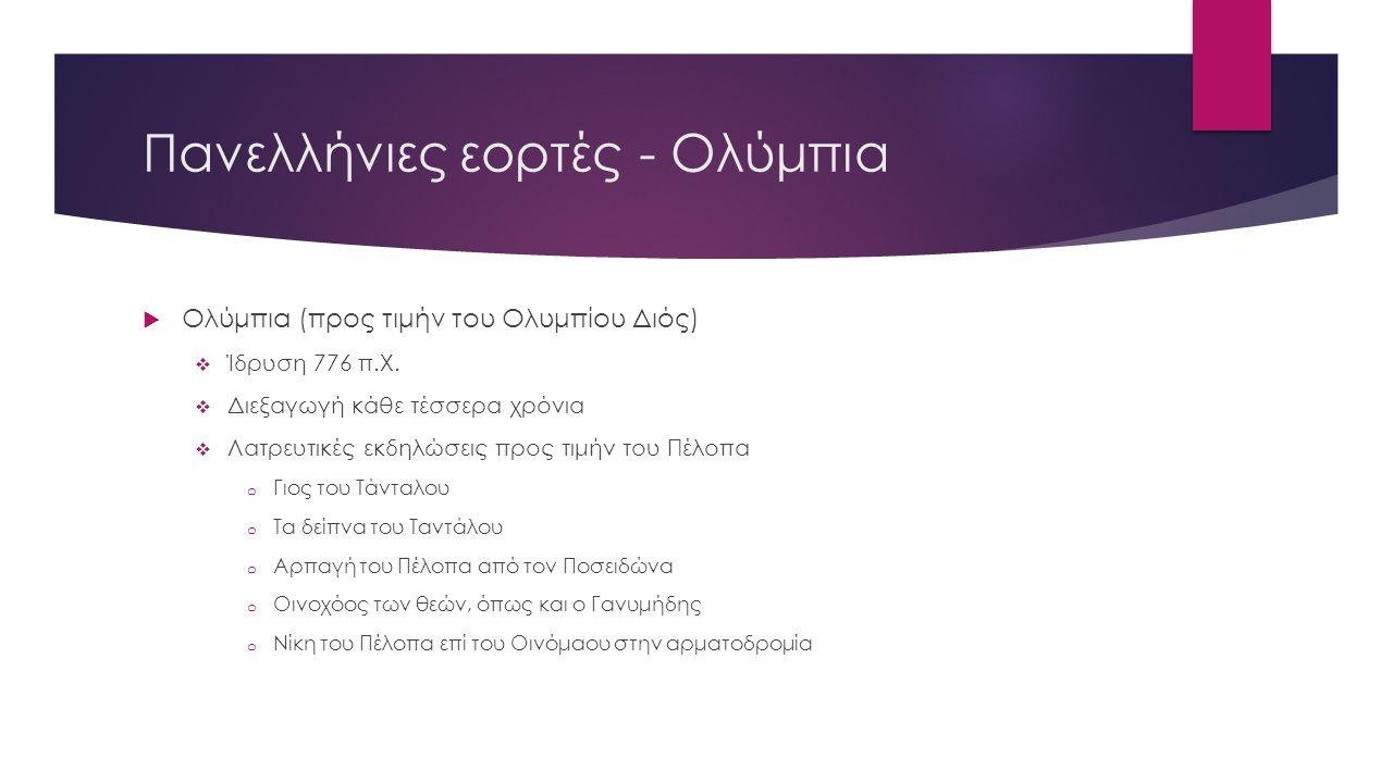 Πανελλήνιες εορτές - Ολύμπια