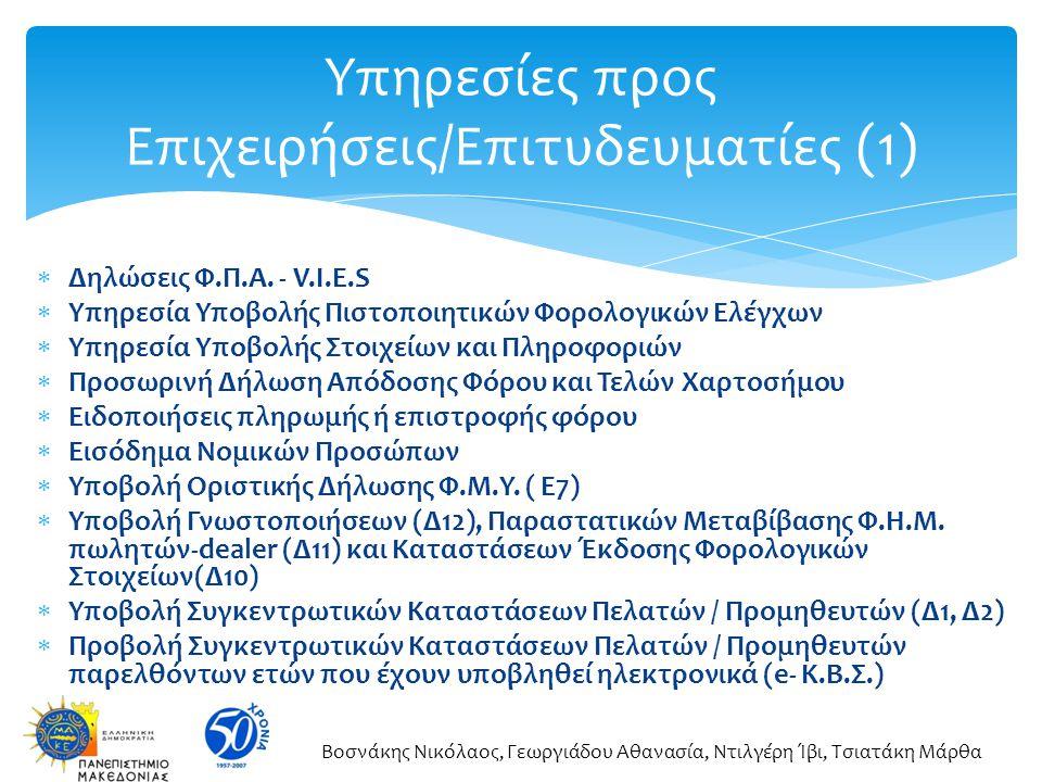 Υπηρεσίες προς Επιχειρήσεις/Επιτυδευματίες (1)