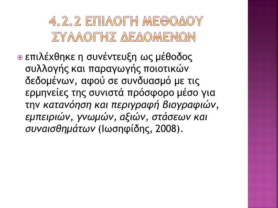 4.2.2 Επιλογη μεθοδου συλλογησ δεδομενων