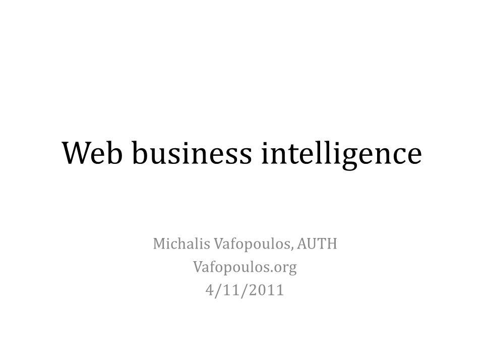 Web business intelligence
