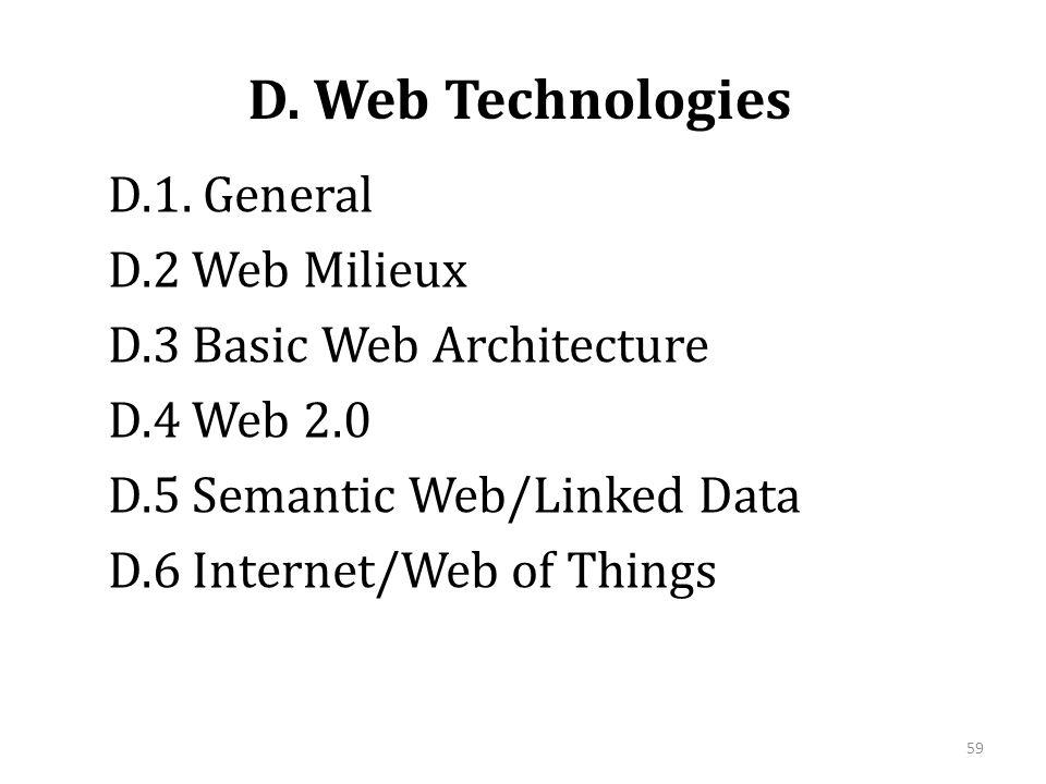 D. Web Technologies D.1.