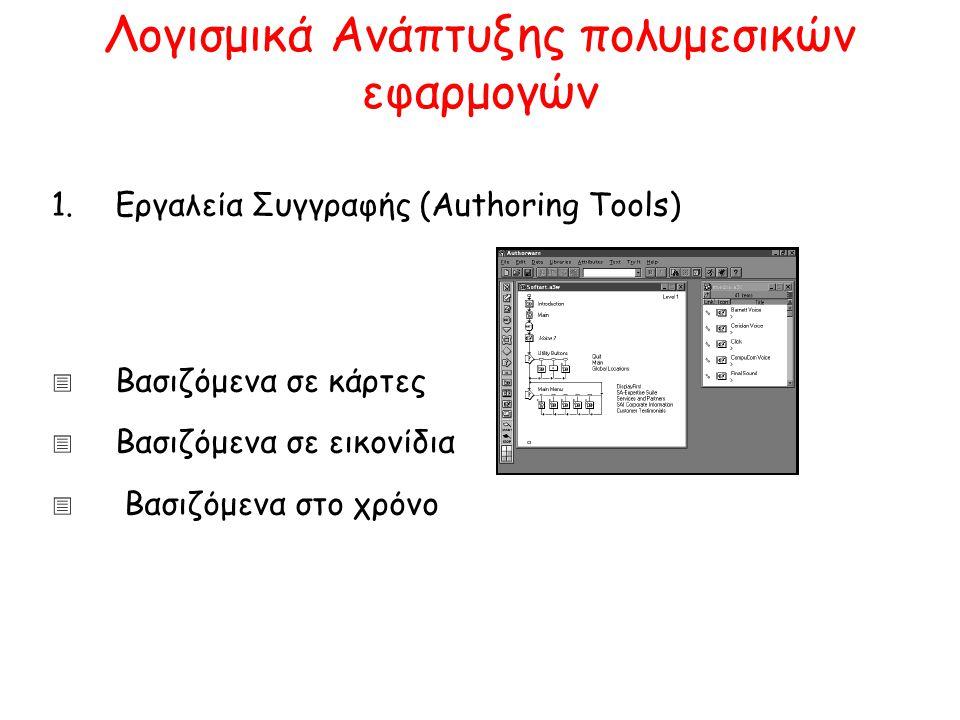 Λογισμικά Ανάπτυξης πολυμεσικών εφαρμογών