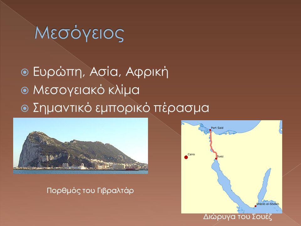 Μεσόγειος Ευρώπη, Ασία, Αφρική Μεσογειακό κλίμα