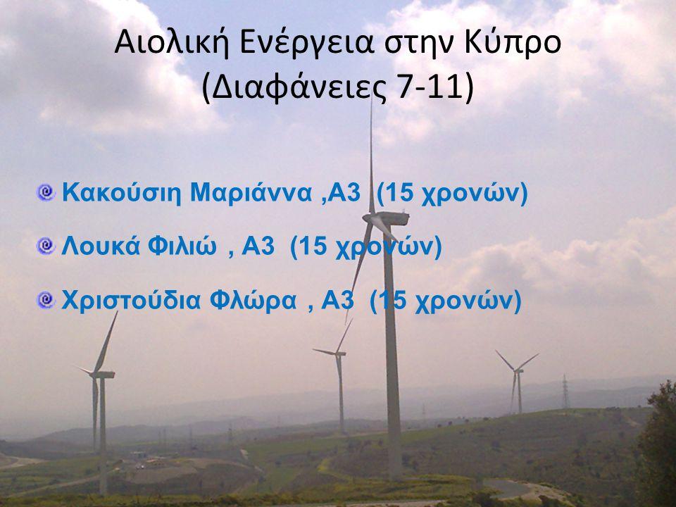 Αιολική Ενέργεια στην Κύπρο (Διαφάνειες 7-11)