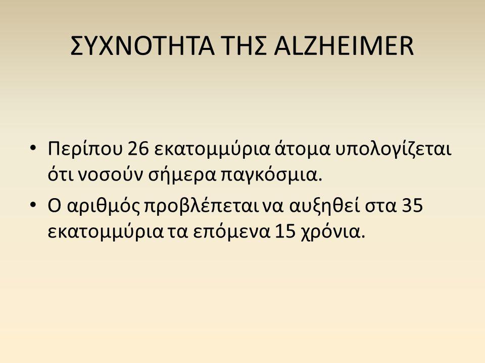 ΣΥΧΝΟΤΗΤΑ ΤΗΣ ALZHEIMER