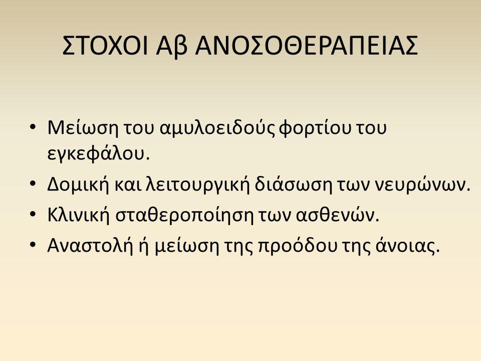 ΣΤΟΧΟΙ Αβ ΑΝΟΣΟΘΕΡΑΠΕΙΑΣ