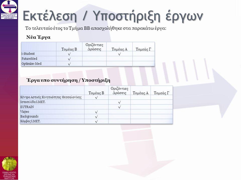 Εκτέλεση / Υποστήριξη έργων