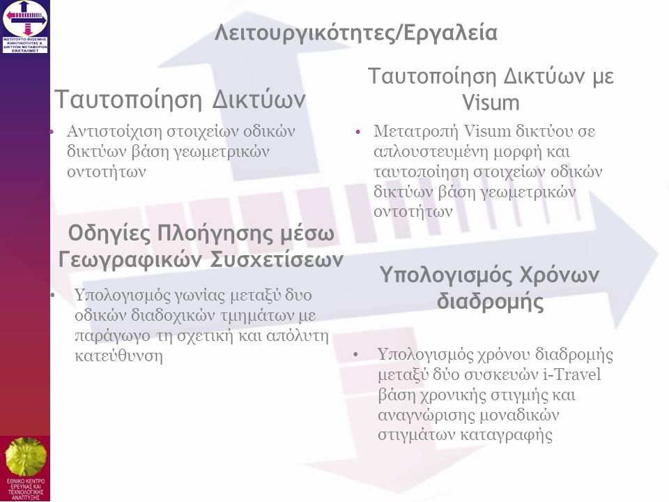 Ταυτοποίηση Δικτύων Λειτουργικότητες/Εργαλεία