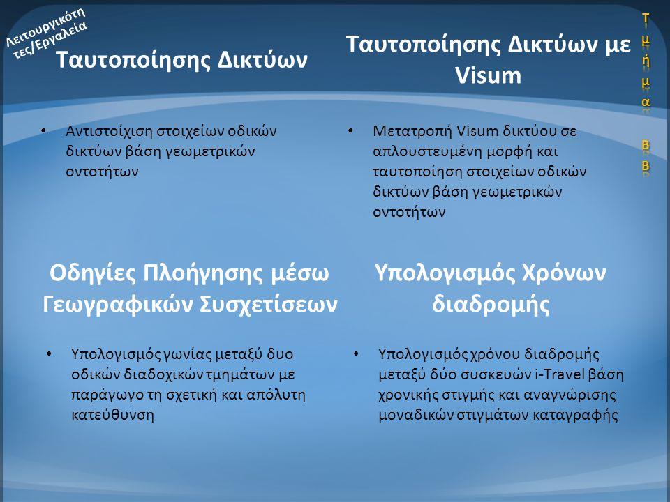 Ταυτοποίησης Δικτύων με Visum