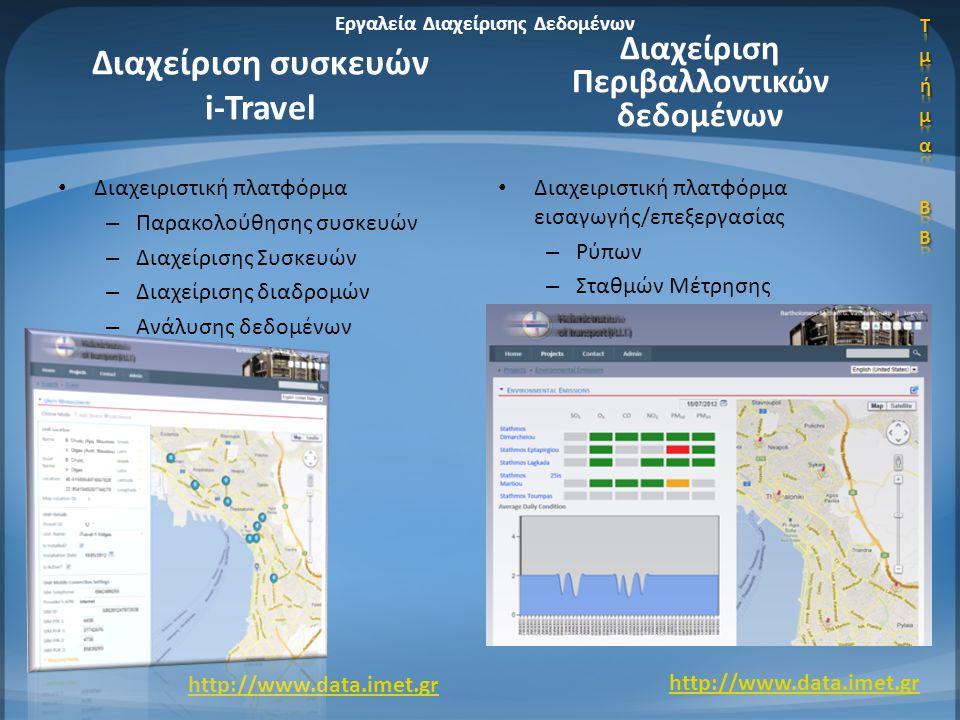 Διαχείριση συσκευών i-Travel