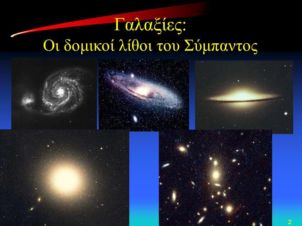 Γαλαξίες: Οι δομικοί λίθοι του Σύμπαντος