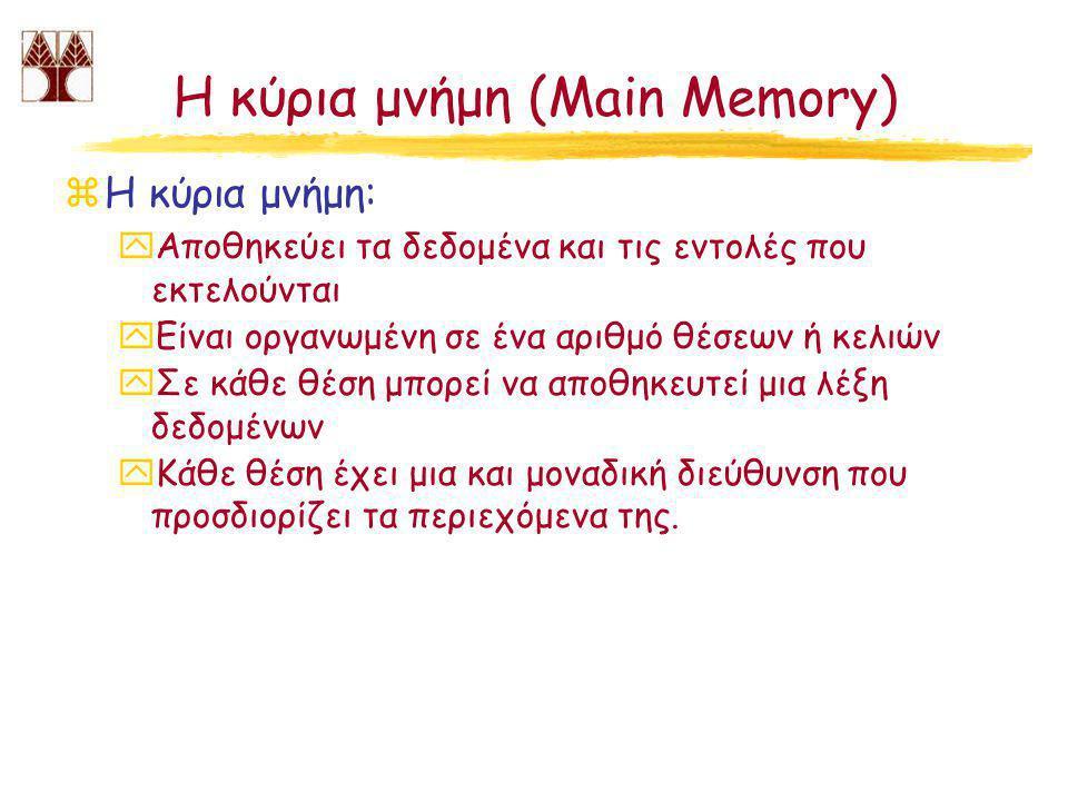 Η κύρια μνήμη (Main Memory)