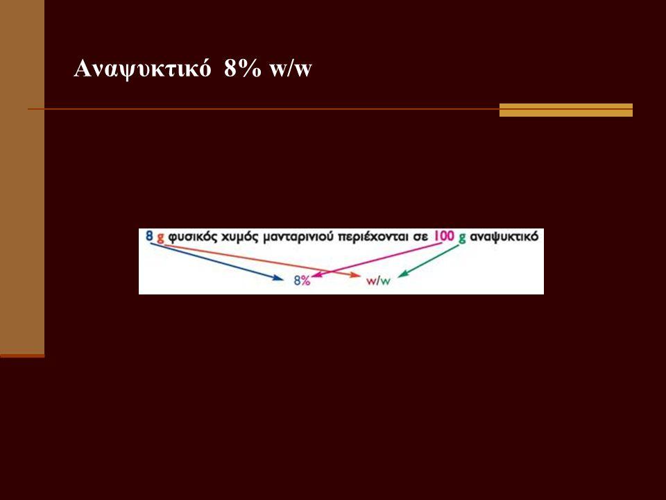 Αναψυκτικό 8% w/w