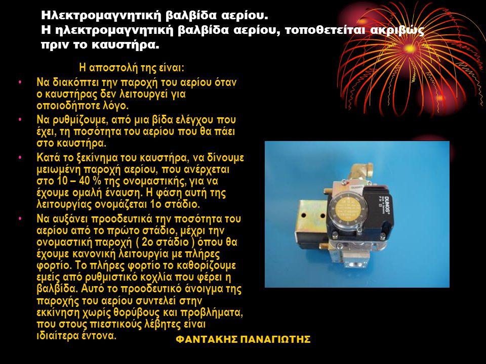 Ηλεκτρομαγνητική βαλβίδα αερίου