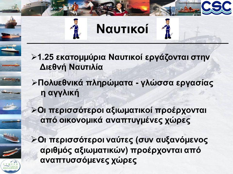 Ναυτικοί Οι περισσότεροι ναύτες (συν αυξανόμενος