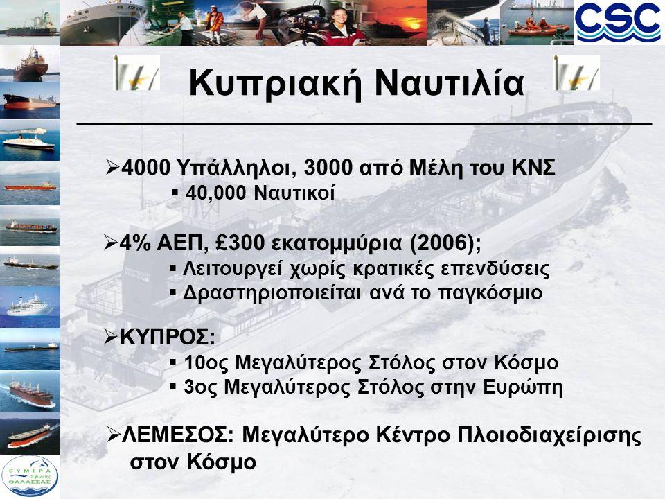 Κυπριακή Ναυτιλία 4000 Υπάλληλοι, 3000 από Μέλη του ΚΝΣ