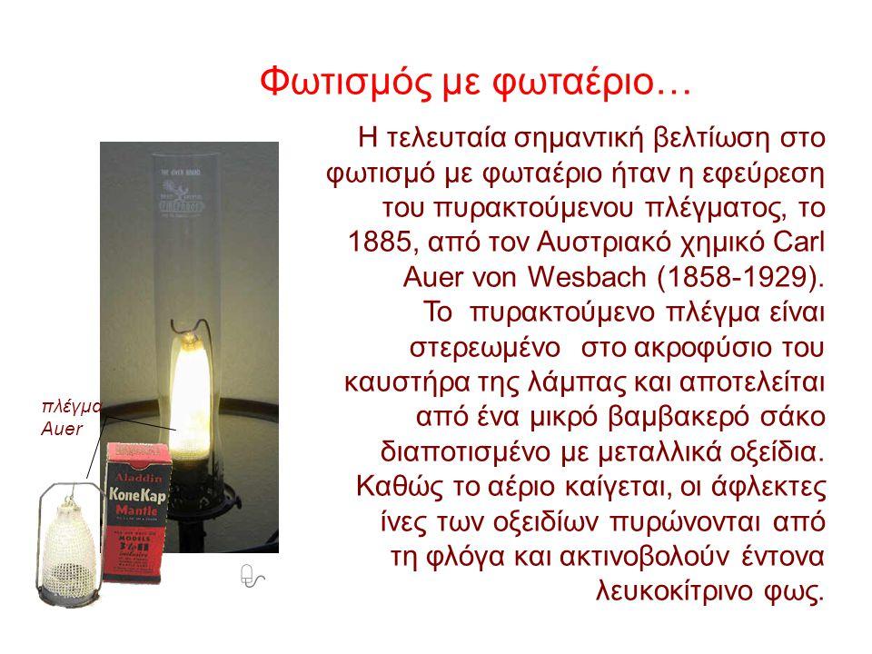 Φωτισμός με φωταέριο…