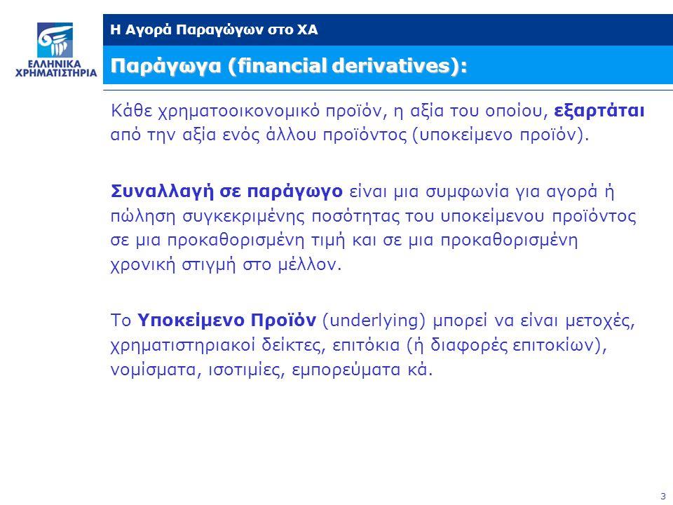 Παράγωγα (financial derivatives):