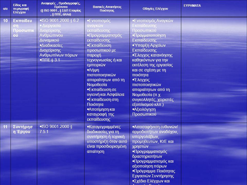 Εκπαίδευση Προσωπικού ISO 9001:2000 § 6.2
