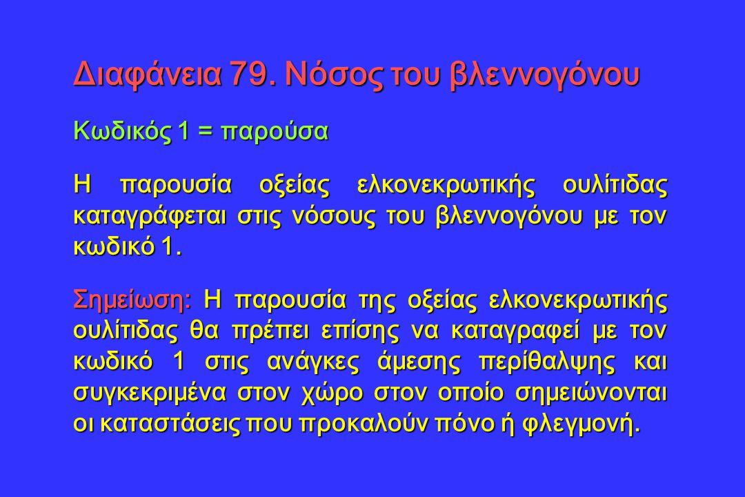 Διαφάνεια 79. Νόσος του βλεννογόνου