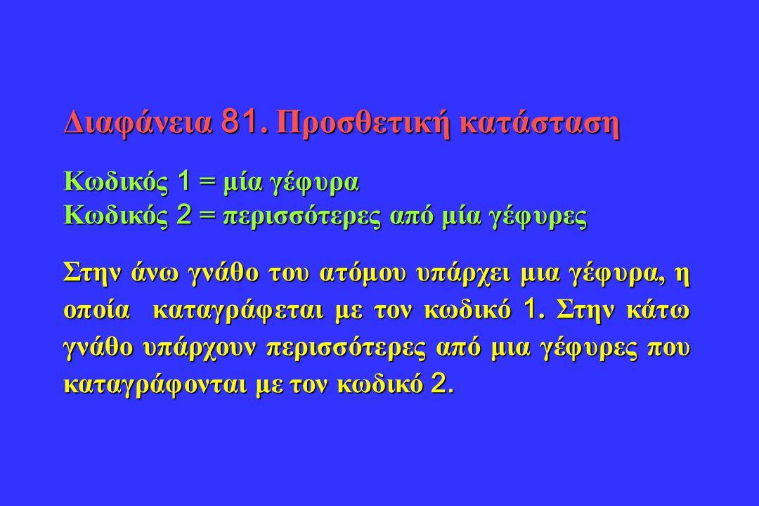 Διαφάνεια 81. Προσθετική κατάσταση