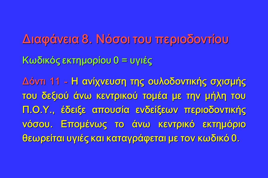 Διαφάνεια 8. Νόσοι του περιοδοντίου