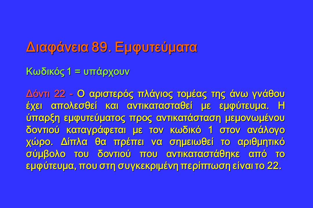 Διαφάνεια 89. Εμφυτεύματα