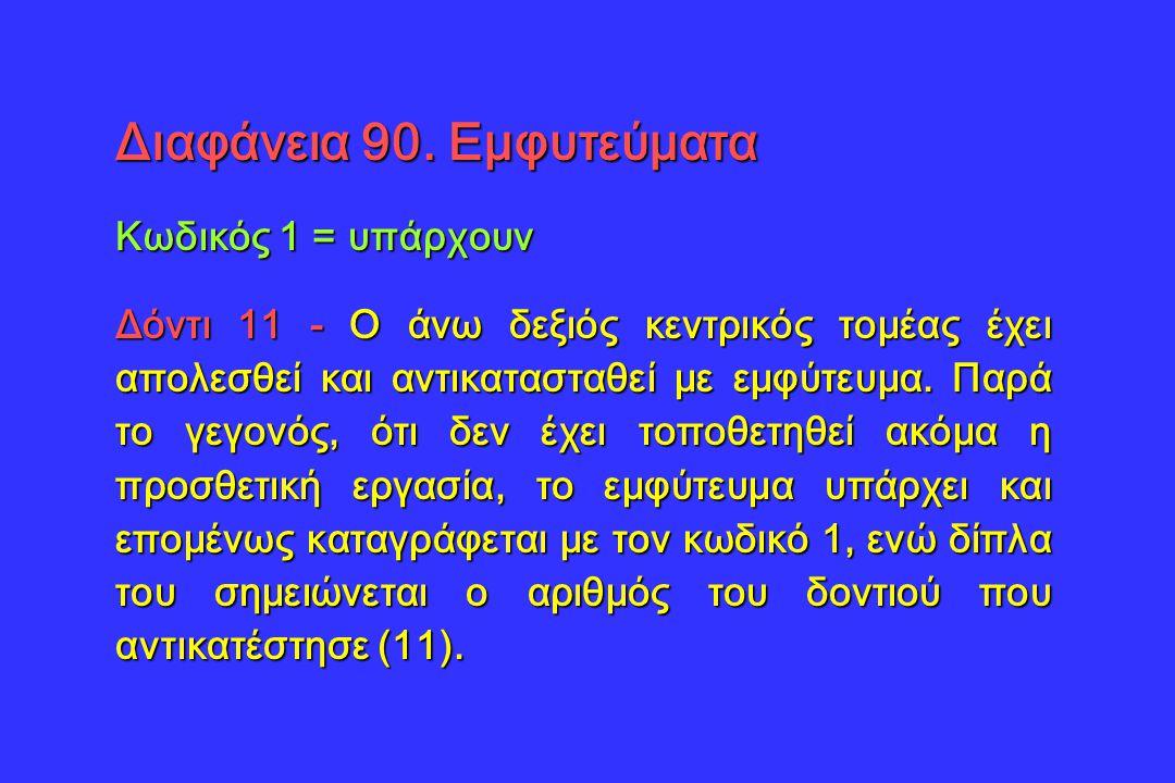 Διαφάνεια 90. Εμφυτεύματα