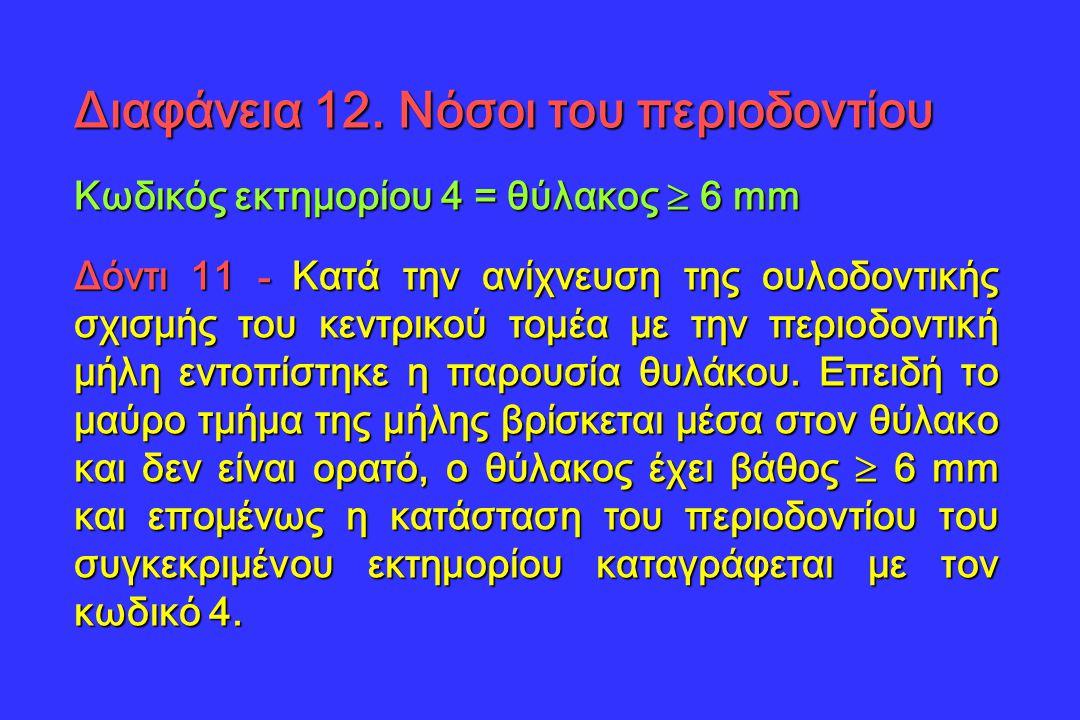 Διαφάνεια 12. Νόσοι του περιοδοντίου