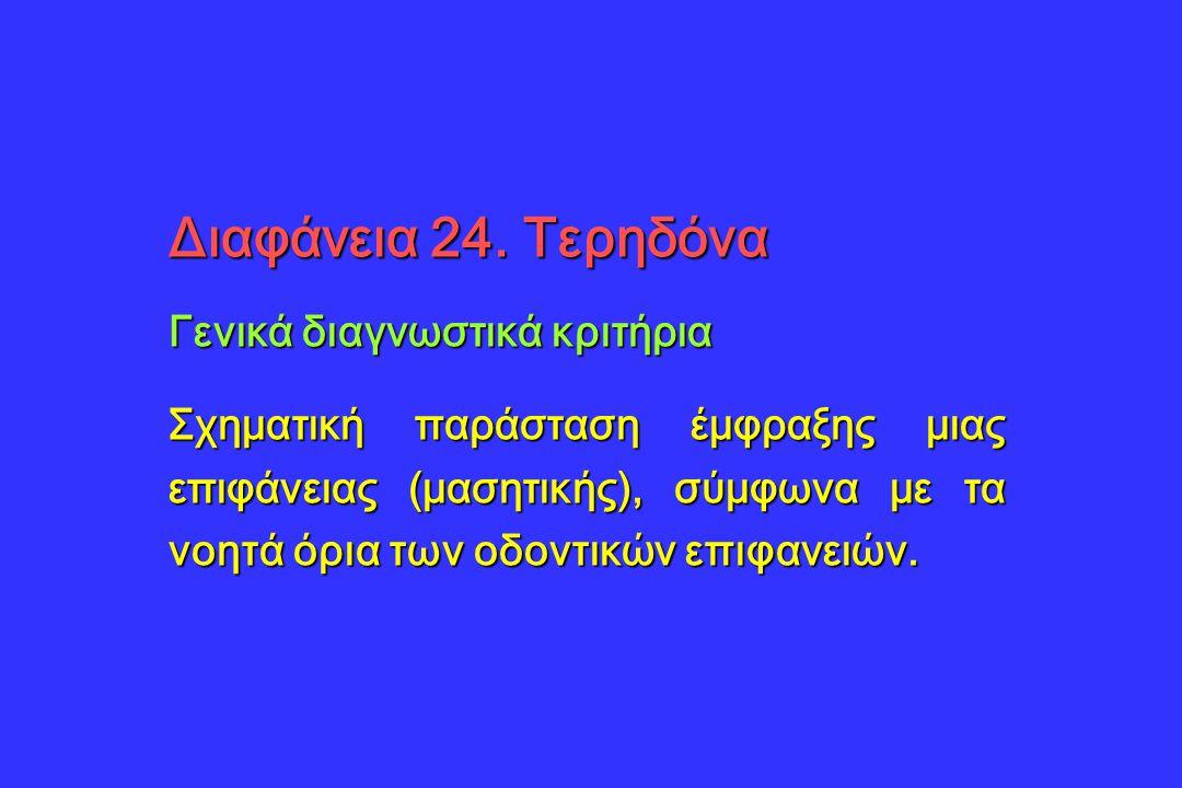 Διαφάνεια 24. Τερηδόνα Γενικά διαγνωστικά κριτήρια