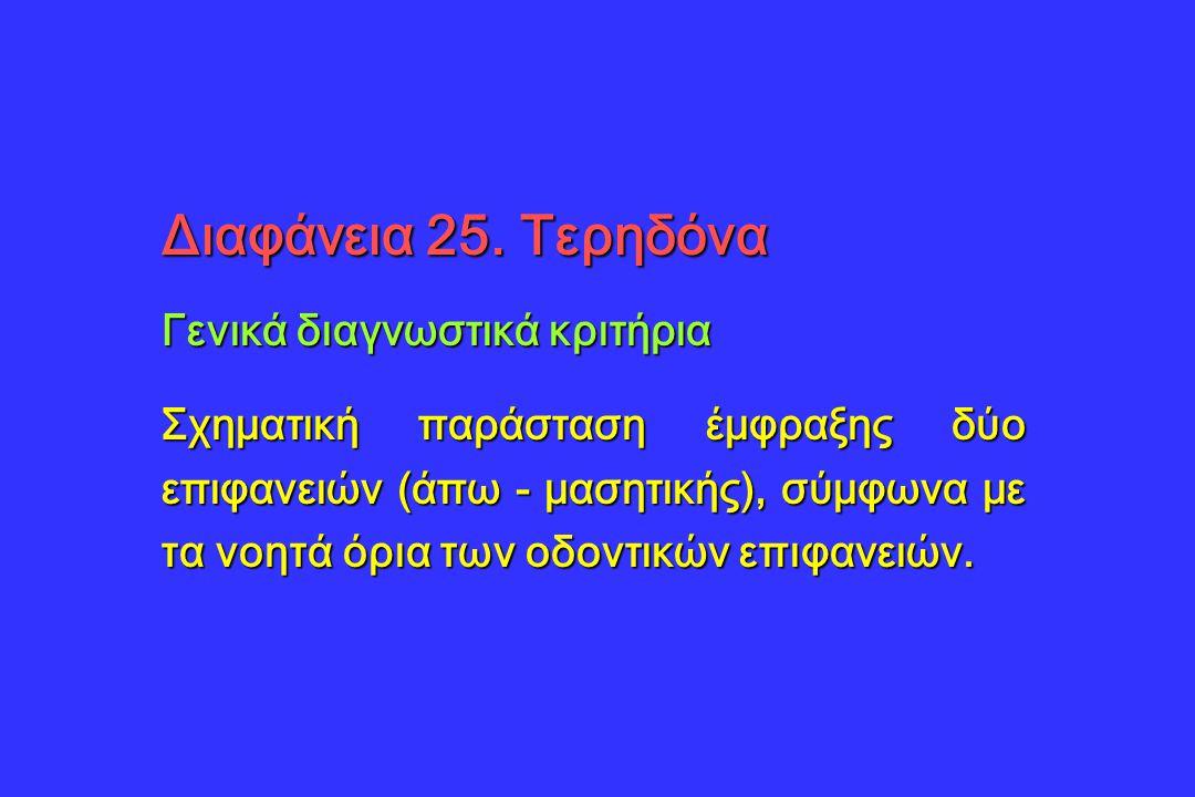 Διαφάνεια 25. Τερηδόνα Γενικά διαγνωστικά κριτήρια