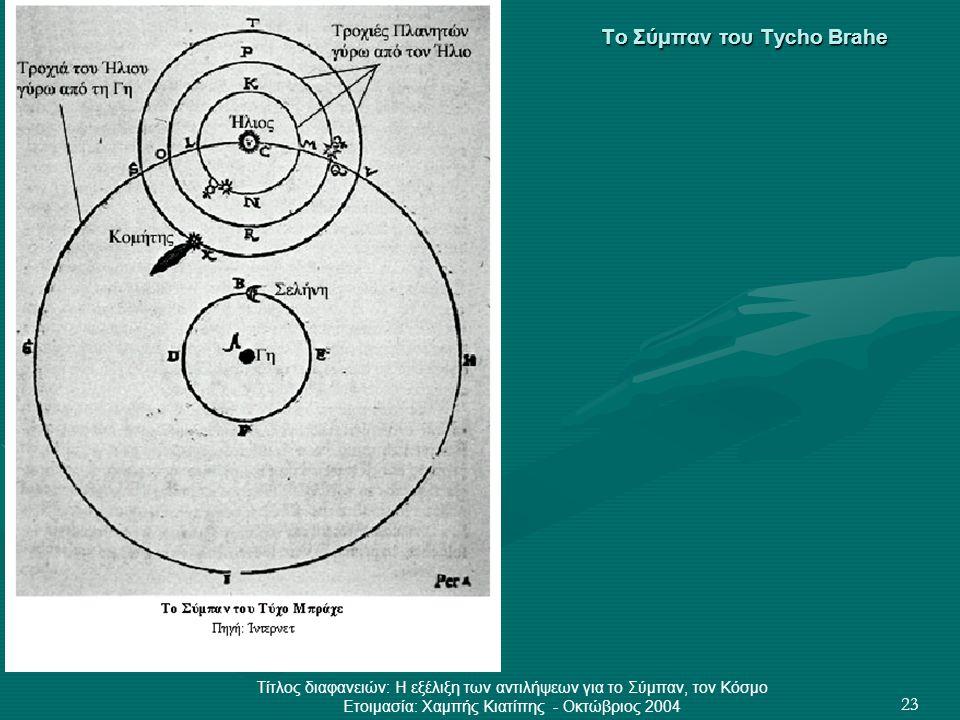 Το Σύμπαν του Tycho Brahe