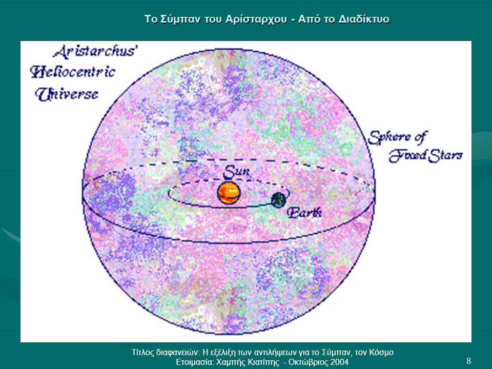 Το Σύμπαν του Αρίσταρχου - Από το Διαδίκτυο