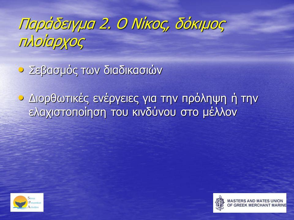 Παράδειγμα 2. Ο Νίκος, δόκιμος πλοίαρχος