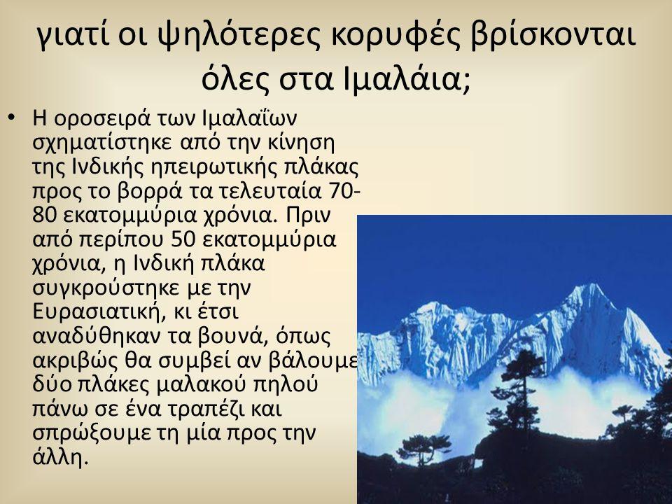 γιατί οι ψηλότερες κορυφές βρίσκονται όλες στα Ιμαλάια;