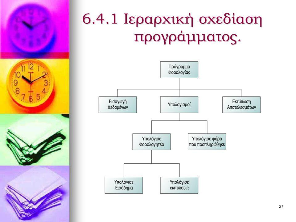 6.4.1 Ιεραρχική σχεδίαση προγράμματος.