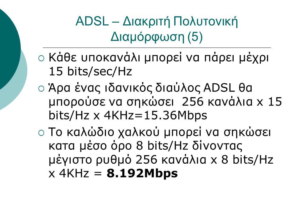 ADSL – Διακριτή Πολυτονική Διαμόρφωση (5)