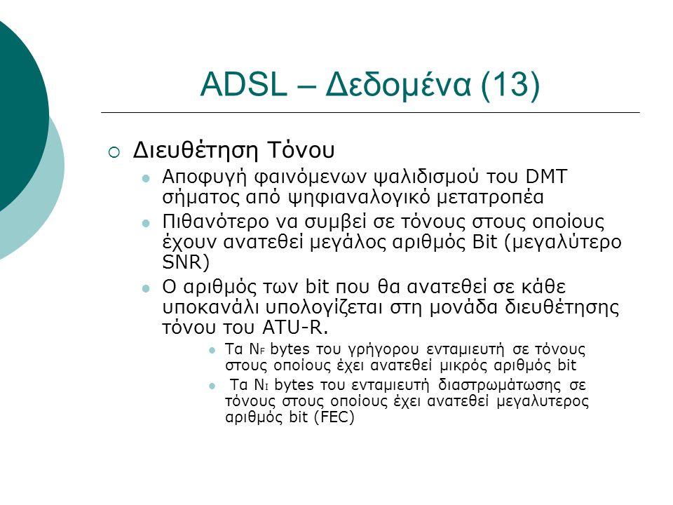 ADSL – Δεδομένα (13) Διευθέτηση Τόνου