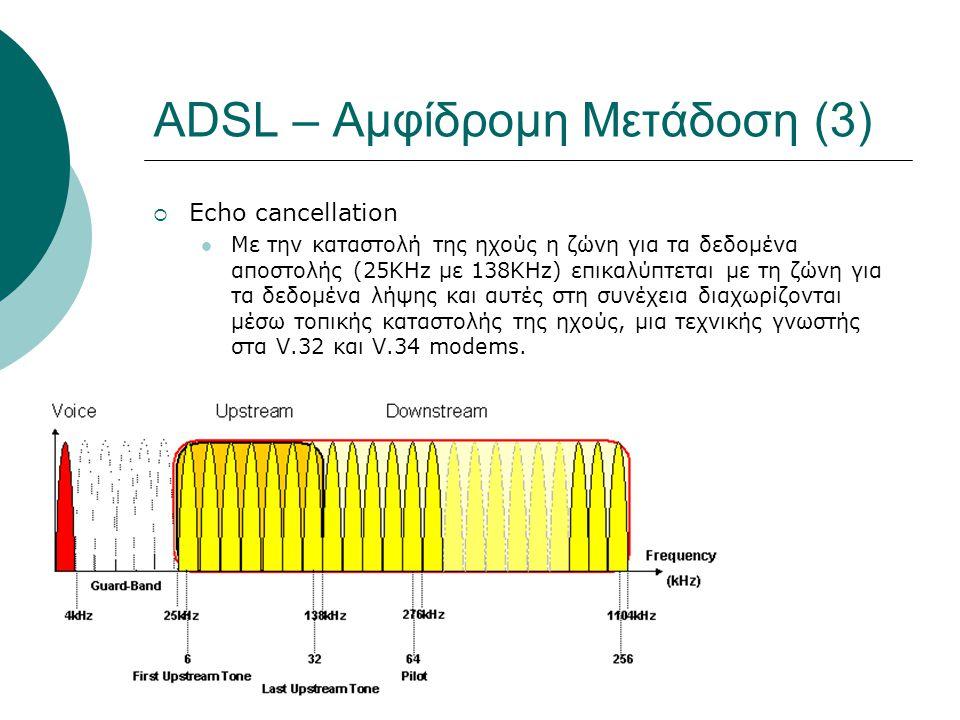 ADSL – Αμφίδρομη Μετάδοση (3)